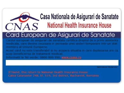 CUM OBȚII CARDUL EUROPEAN DE SĂNĂTATE?
