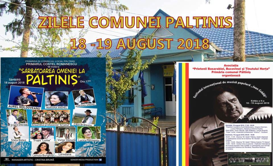 Sărbătoarea Omeniei la Păltiniş 18-19 August 2018