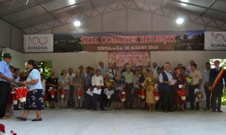 Protocol de înfrățire, 25 de cupluri premiate și multă muzică la Ziua comunei Hudești FOTO&VIDEO