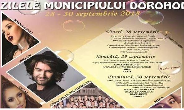 Astăzi încep Zilele Dorohoiului 2018: concerte, expoziţii și distracție. Vezi programul