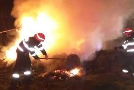 Hrană pentru animale distrusă într-un incendiu, la Dragalina