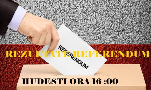 PREZENŢA LA VOT LA ORA 16:00. SECŢII DE VOTARE DIN HUDESTI