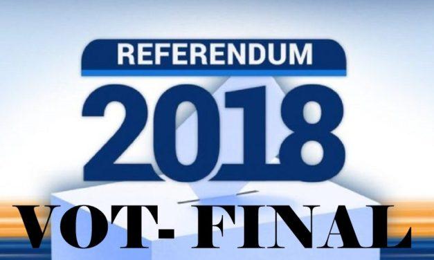 Rezultate Referendum 2018. Urnele s-au închis, Rezultatele din Hudesti