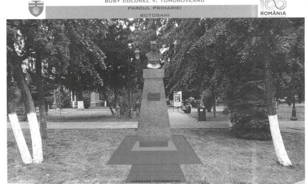 Ceremonie militară pentru bustul col. Victor Tomoroveanu