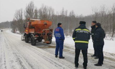 Prefectul Şlincu, în control pe drumurile din judeţ