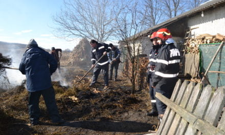 Incendiu la Alba Hudesti Foto& Video