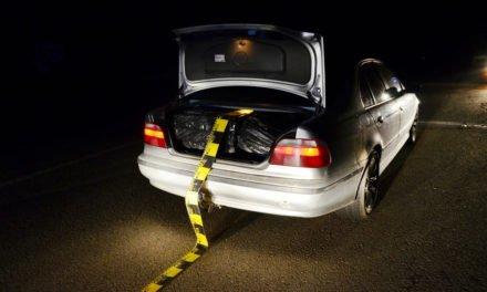 BMW burduşit cu ţigări de contrabandă,  descoperit la frontiera de est