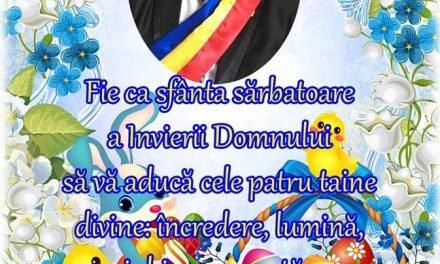 MESAJ PASCAL AL PRIMARULUI COMUNEI PALTINIS COSTEL ROMANESCU