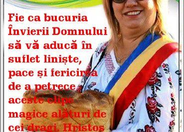 MESAJ PASCAL AL PRIMARULUI COMUNEI VÂRFU CÂMPULUI MARIA HUȚU