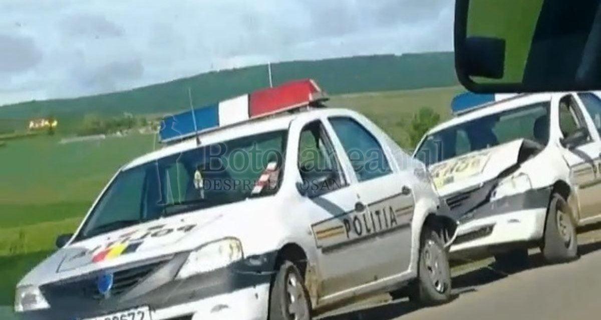 Accident cu două mașini de Poliție la Cucorăni