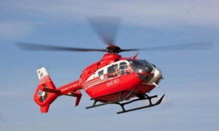 Polițistul  local,accidentat in  Darabani preluat de un elicopter SMURD,