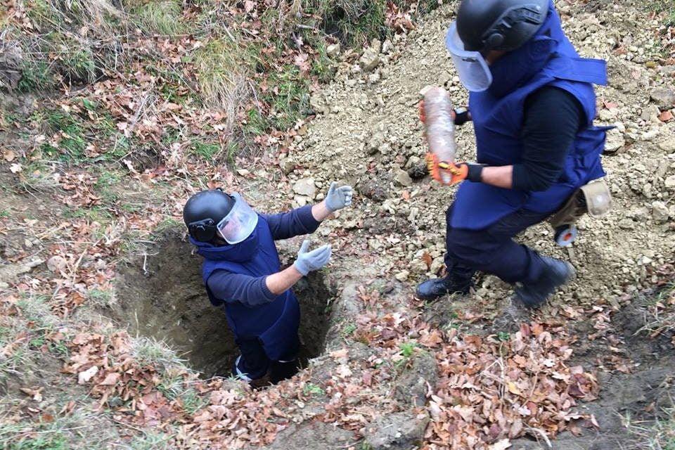 Muniție rămasă neexplodată distrusă la Copălău
