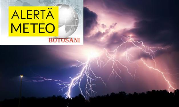 Cod galben de vreme severă imediată în județele Bacău și Botoșani.