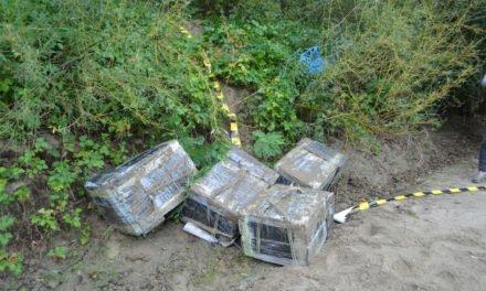 Contrabandă cu ţigări oprită de poliţiştii de frontieră  la malul râului Prut
