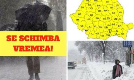 Schimbări dramatice de temperatură în toată țara, în următoarele ore