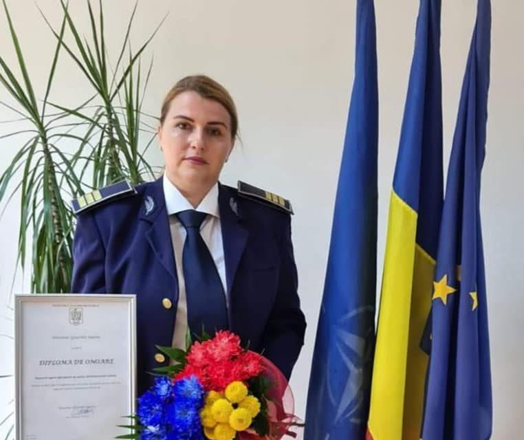 """Polițista de frontieră din Botoșani care a primit diploma de onoare din partea MAI. """"Mi-ați dat putere și curaj să pot continua"""""""
