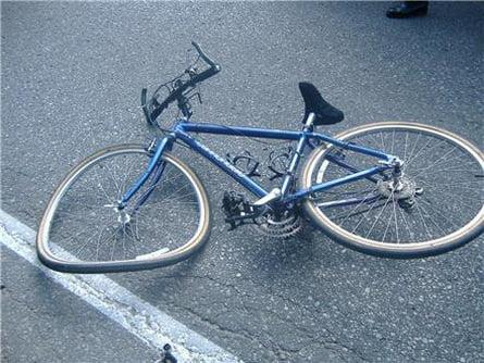 Accident de bicicletă în Hudeşti