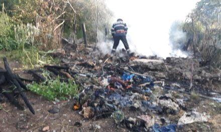 Adăpost de animale cuprins de flăcări, la Oroftiana . O primă ipoteză ar fi acţiune intenţionată