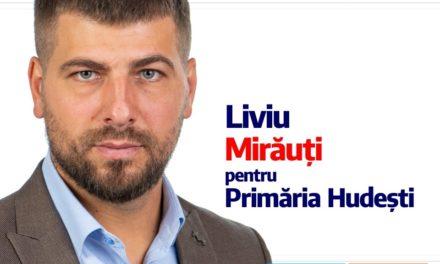Liviu Mirăuți candidează pentru Primăria Hudești din partea USR+