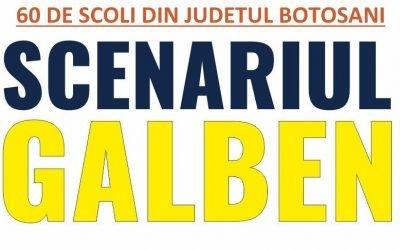 60 de Școli din judetul Botoșani intră de luni 22 Februarie 2021 in scenariu GALBEN