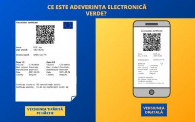 """""""Adeverința electronică verde"""", documentul care va facilita libera circulație în UE"""